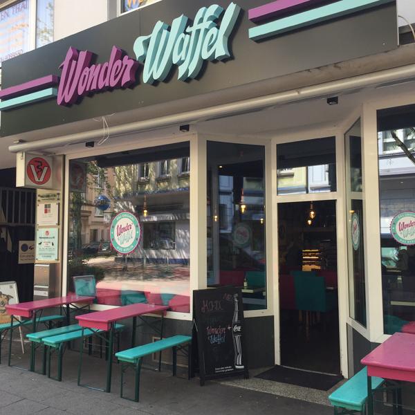 Wonder Waffel . Café mit veganen Optionen